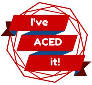 I've ACED it! red - cropped